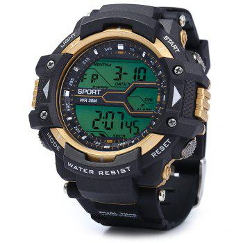 8338G Alarm Day Date Stopwatch Display Men LED Sports Watch -  BLUE