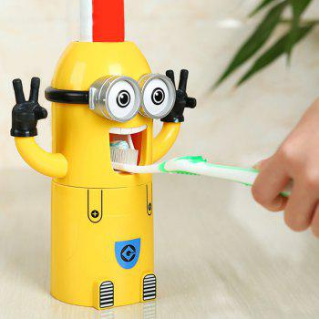 Fashionable Despicable Me Automatic Toothpaste Dispenser Minion Shape Toothbrush Toothpaste Holder - YELLOW