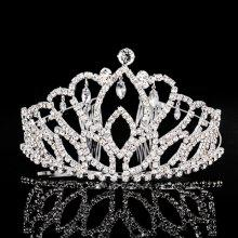 Chic Rhinestoned Faux Crystal Pendant Hollow Out Crown For Women