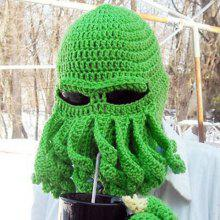 Stylish Solid Color Octopus Shape Knitted Beanie For Men