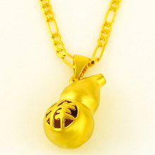Stunning Solid Color Calabash Pendant For Women