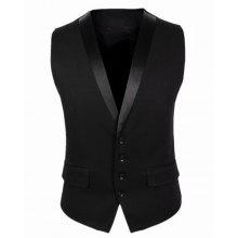 Belt Design Single Breasted V-Neck Sleeveless Solid Color Men's Waistcoat