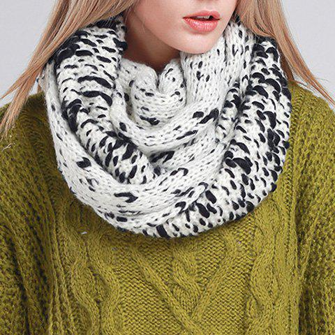 Chic Mixed Color Women's Chunky Scarf - BLACK