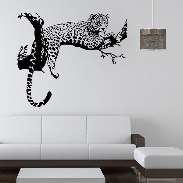 High Quality Tiger Shape Removeable Waterproof Background Wall Sticker 12pcs high quality butterfly shape removeable 3d wall sticker