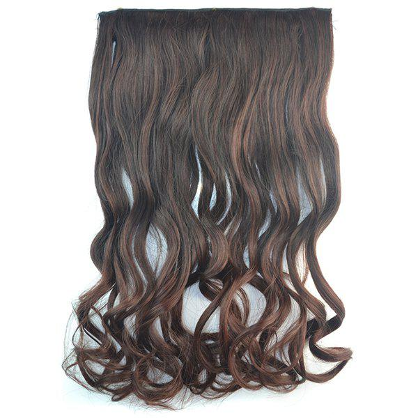 Shaggy Curly Synthetic Fashion Long Brown Ombre Graceful Clip In Women's Hair Extension - COLORMIX
