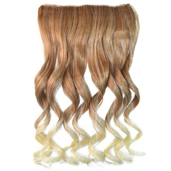 Shaggy Curly Brown Ombre Blonde Fashion Clip In Long Synthetic Hair Extension For Women - COLORMIX