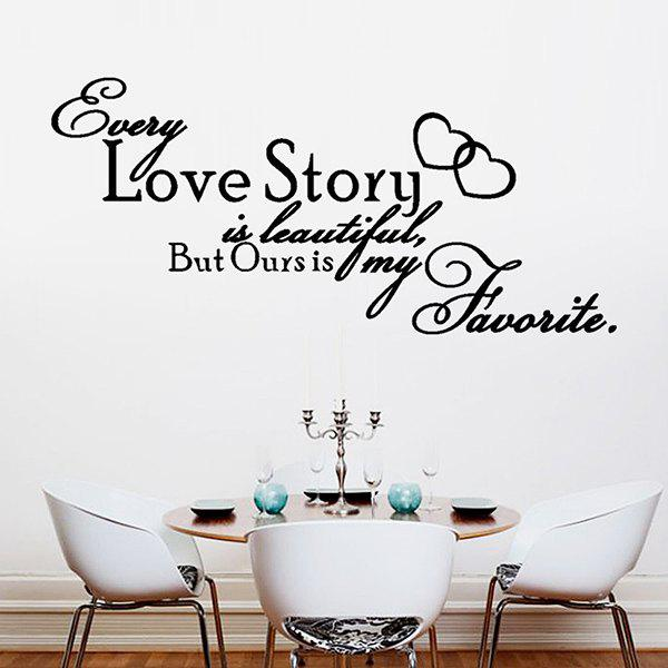 High Quality English Proverb Shape Removeable Waterproof Background Wall Sticker - BLACK