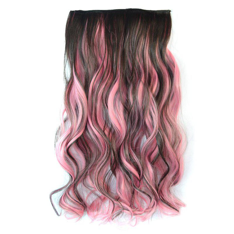 Fluffy Curly Charming Deep Brown Highlight Synthetic Vogue Long Women's Hair Extension - COLORMIX