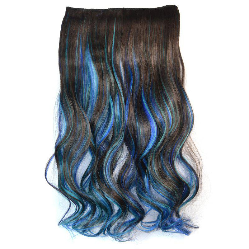 Noble Long Clip In Fashion Three Color Gradient Synthetic Fluffy Wavy Hair Extension For Women