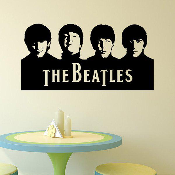 High Quality Beatles Portraits Shape Removeable Waterproof Background Wall Sticker