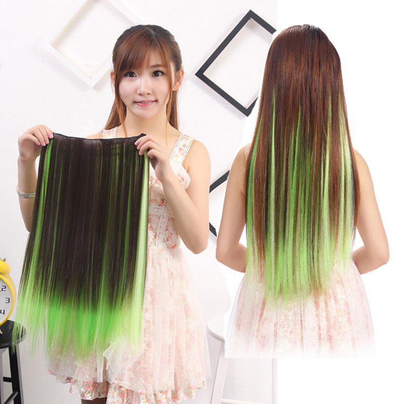 2018 Charming Silky Straight Synthetic Clip In Vogue Long Three
