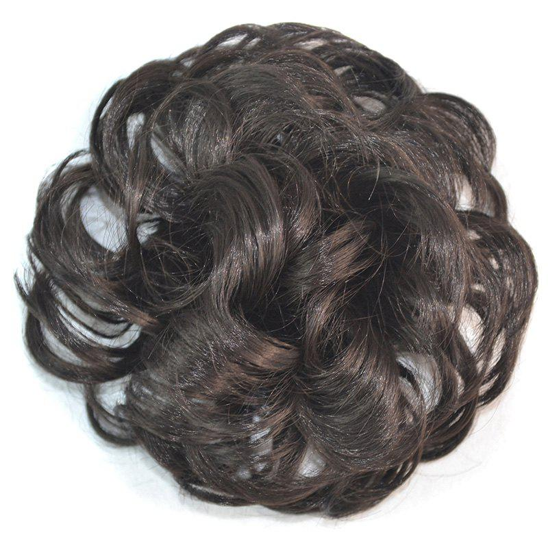 Attractive Fluffy Curly Vogue Heat Resistant Fiber Women's Chignons - BLACK