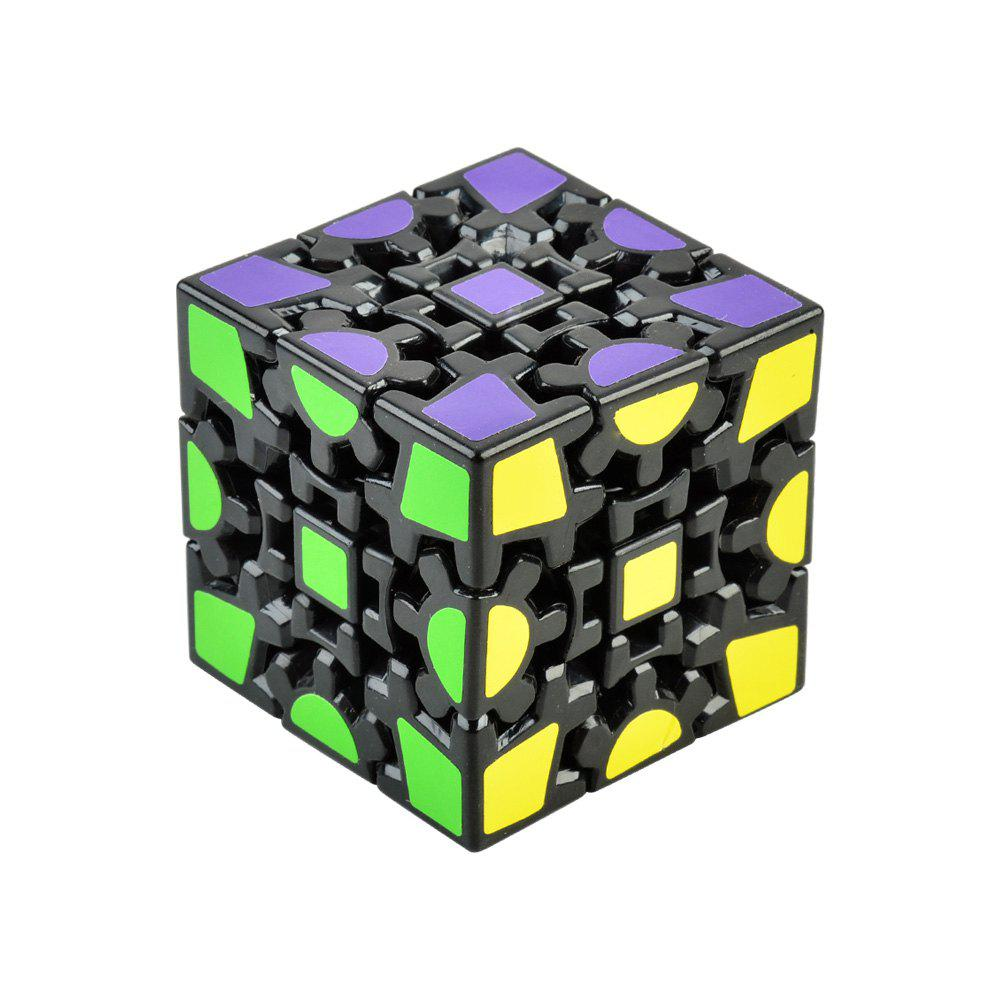 3D Gear Magic Cube 3 x 3 x 3 Black Base Colorful Cool Brain Teaser Educational Toy peter w murathimme mburu values based urban services for the poor