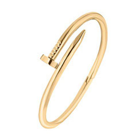Nail Shape Cuff BraceletJewelry<br><br><br>Color: GOLDEN