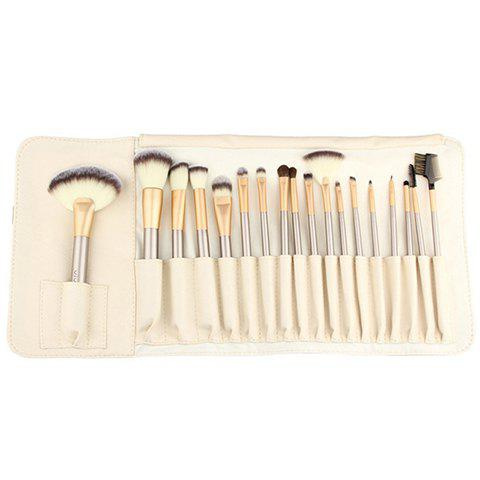 18 Pcs Makeup Brushes Set with Brush Bag - GOLDEN