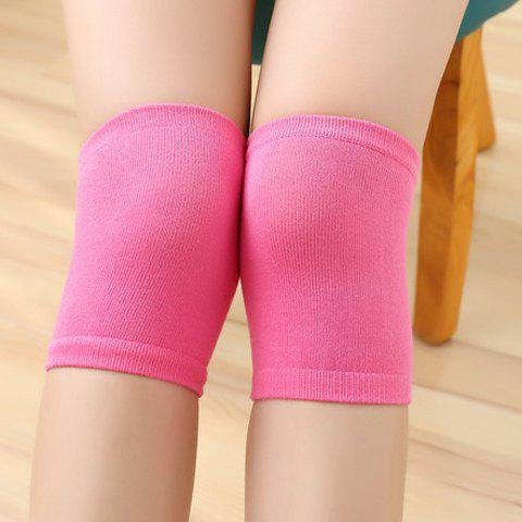 Pair of Chic Solid Color Protect Knee Women's Knitted Leg Warmers