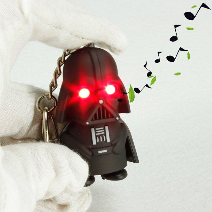 Key Chain Movie Figure Black Knight Key Ring with Red Light / Sound - BLACK