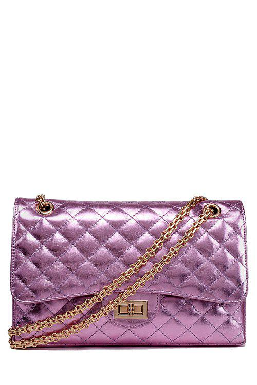 Trendy Checked and Hasp Design Women's Crossbody Bag - PINK