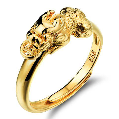 Delicate Solid Color Animal Hollow Out Ring For Women - GOLDEN ONE-SIZE