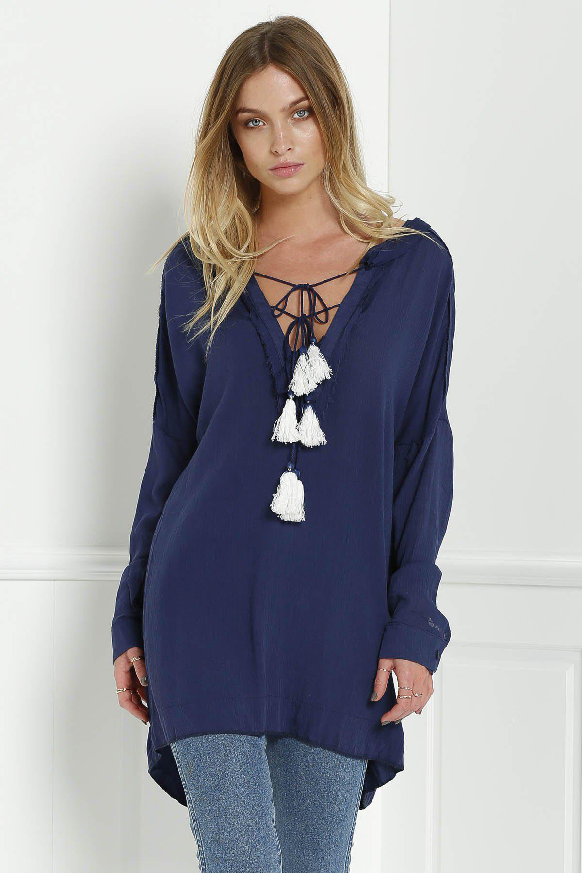 Riptide Tunic - DEEP BLUE L