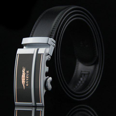 Stylish Stripy and Crocodile Design Auto Buckle Belt For Men