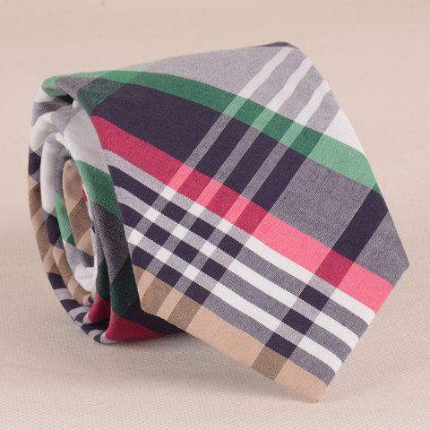 Stylish Plaid Pattern 7.5CM Width Various Color Men's Tie - COLORMIX