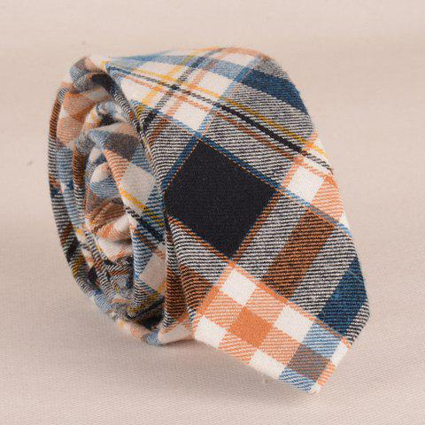 Stylish Plaid Pattern 5CM Width Color Matching Tie For Men