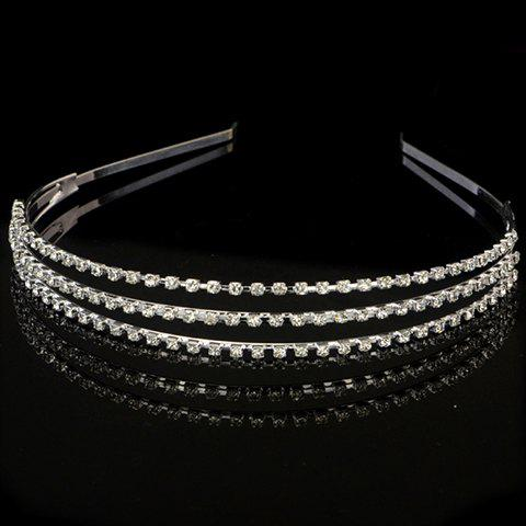 Stunning Layered Rhinestoned Hairband For Women - SILVER