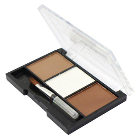 3 Colours Sweatproof Eyebrow Powder Palette with Brush -