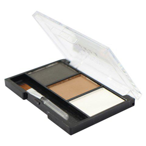 Professional 3 Colours Waterproof Eyebrow Powder Palette with Brush