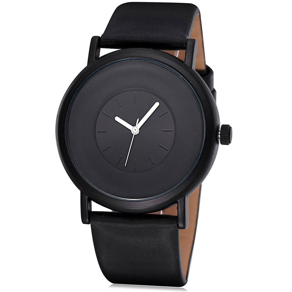 SINOBI 2642 Male Japan Quartz Watch with PU Leather Band - BLACK