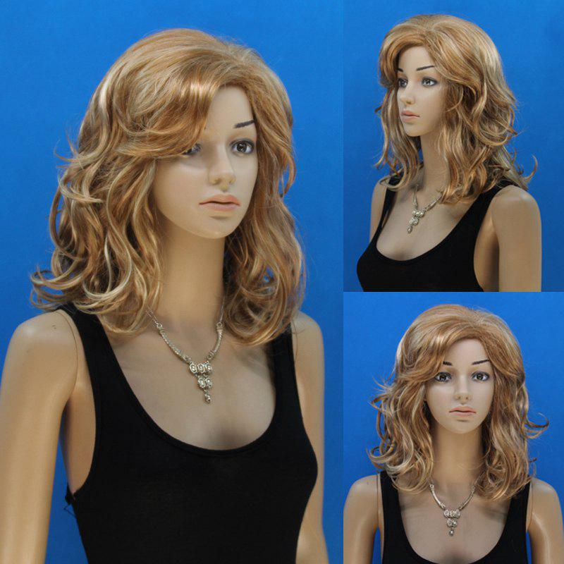 Nobby Long Flax Mixed Elegant Side Bang Capless Shaggy Curly Synthetic Wig For Women casio edifice efr 552gl 2a