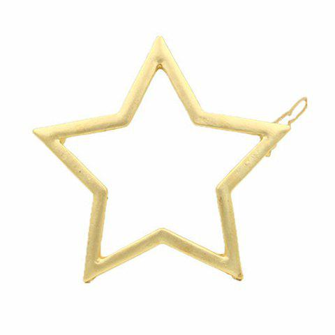 Faddish Solid Color Hollow Out Star Shape Hairgrip For Women faddish hollow out geometric shape hairgrip for women
