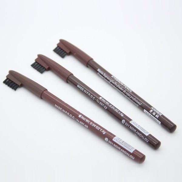 Professional Dual-Use Eyebrow Pen Eyeliner Pen with Brush - BROWN