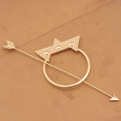 Delicate Arrow Shape Triangle Hairpin For Women -  GOLDEN