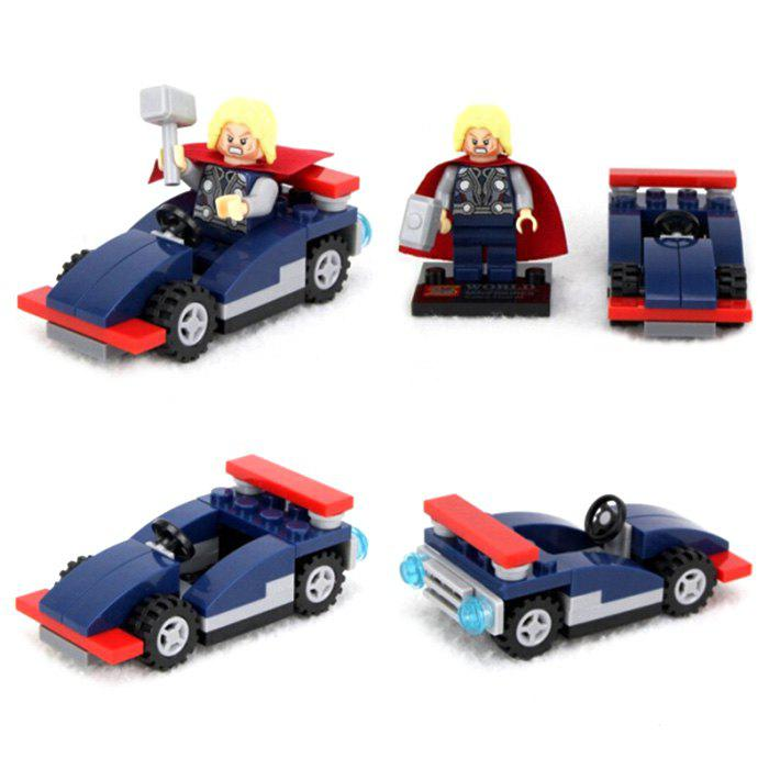 Lepin Super Hero Thor Minifigure Car Set Building Brick Educational Christmas PresentHome<br><br><br>Color: DEEP BLUE
