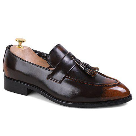 Fashion Tassels and PU Leather Design Formal Shoes For Men handmade soft bottom fashion tassels baby moccasin newborn babies shoes 18 colors pu leather prewalkers boots