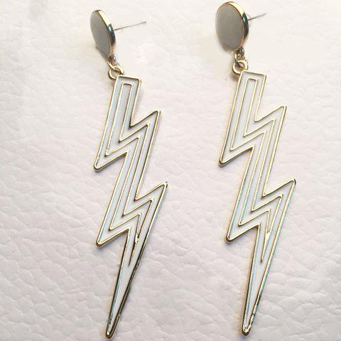 Pair of Vintage Exaggerated Lightning Shape Earrings For Women - GOLDEN