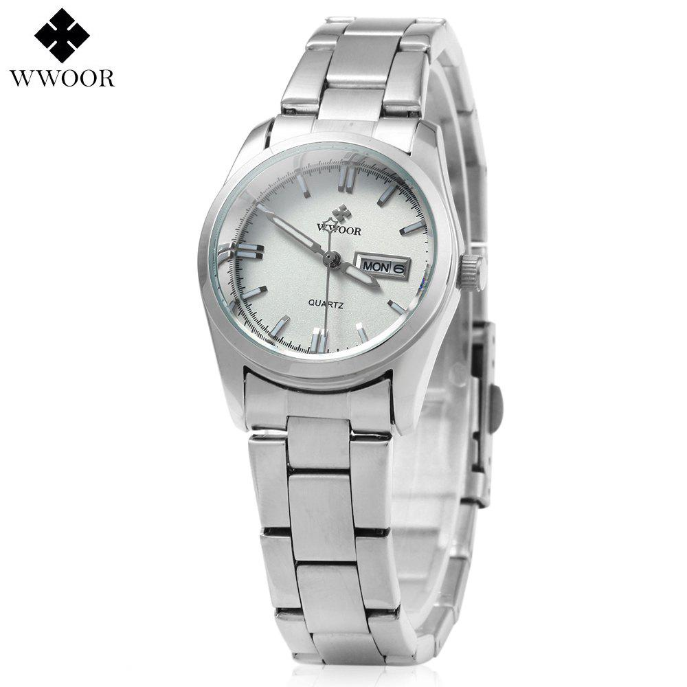 WWOOR 8804 Steel Band Ladies Quartz Watch Luminous 30M Water Resistant блеск для губ makeup revolution lip amplification limitless цвет limitless variant hex name 3b3a3d