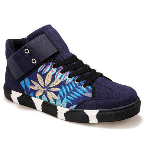 Casual  and Printed Design Sneakers For Men - BLUE 41