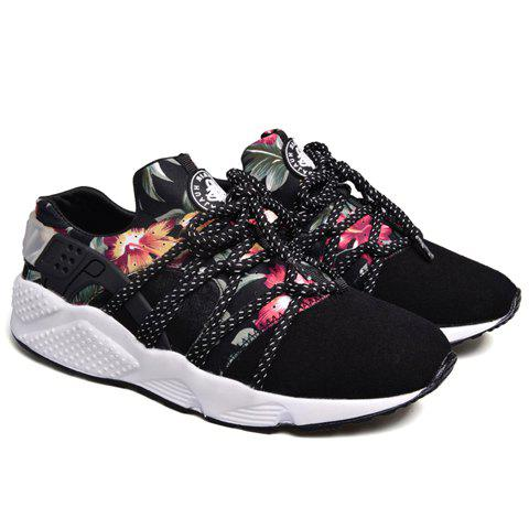 Stylish Print and Splicing Design Athletic Shoes For Men - RED 41