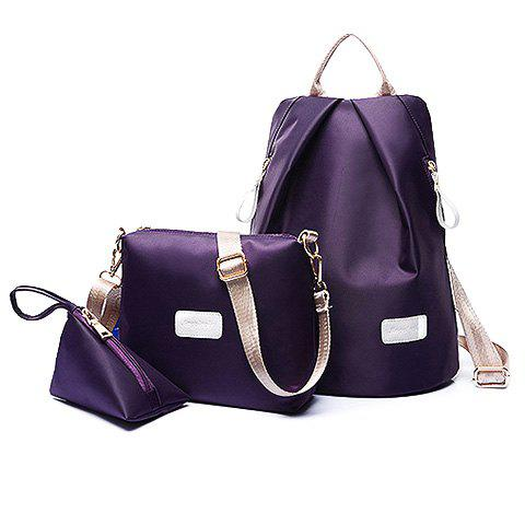 Simple Solid Color and Zippers Design Women's Satchel