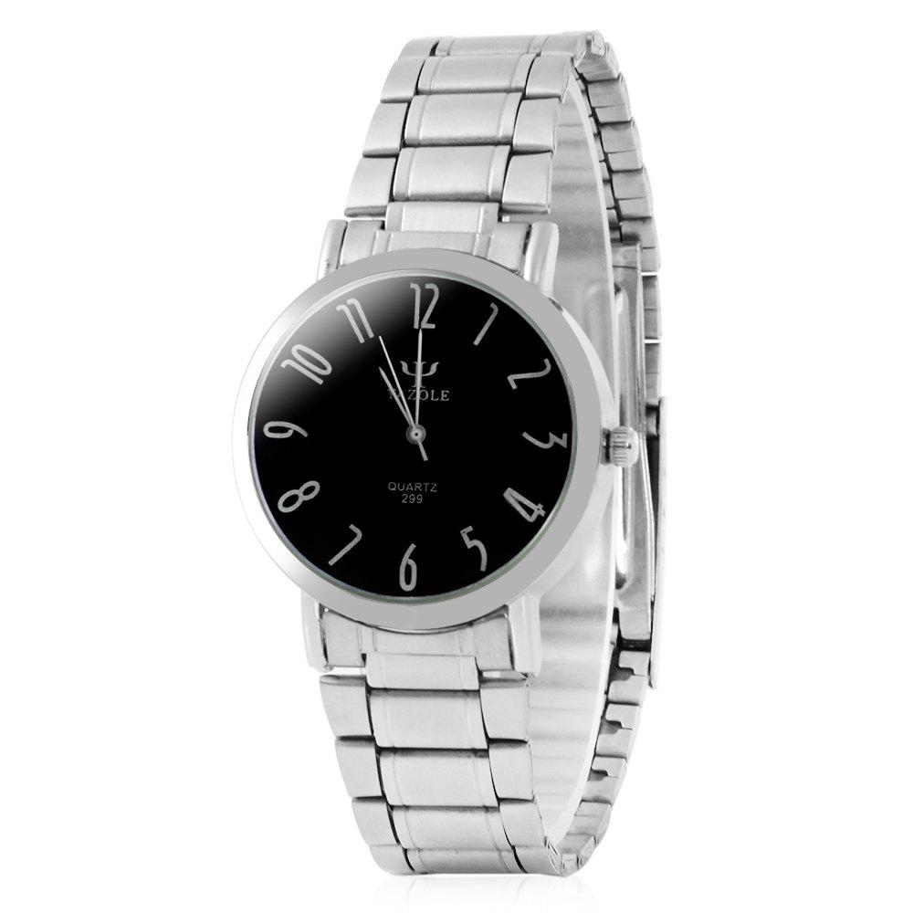 Yazole 299 Analog Quartz Watch with Steel Band for Ladies