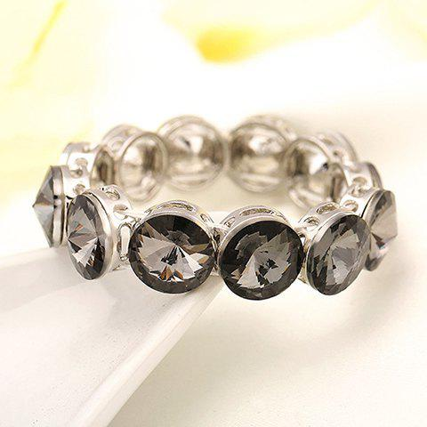 Stunning Rhinestoned Hollow Out Bracelet For Women - GRAY