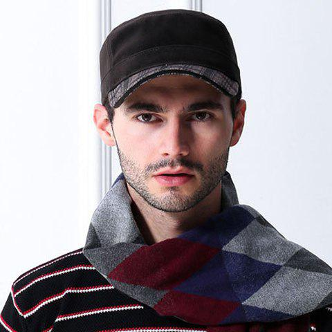 Stylish Tartan Pattern Outdoor Military Hat For Men