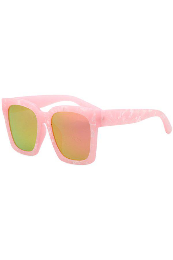 Chic Stone Pattern Quadrate Sunglasses For Women - PINK