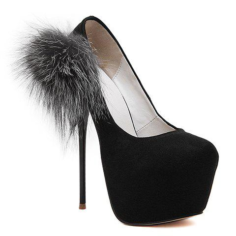 Fashion Stiletto Heel and Black Design Pumps For Women