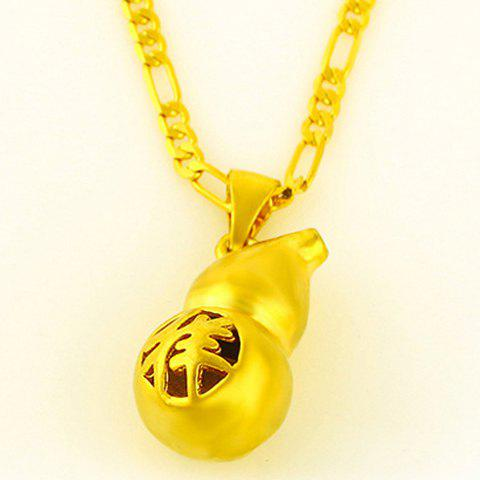Stunning Solid Color Calabash Pendant For Women - GOLDEN