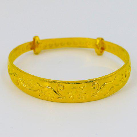 Gorgeous Carved Solid Color Bracelet For Women - GOLDEN