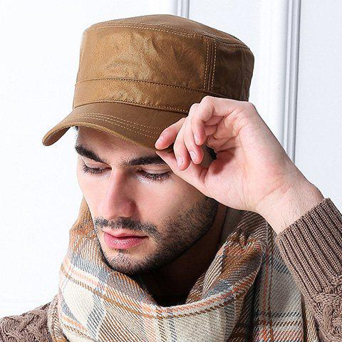 Stylish Simple Solid Color Military Hat For Men - KHAKI